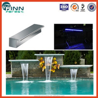 unique LED light garden pool water curtain and swimming pool decorative wall waterfalls