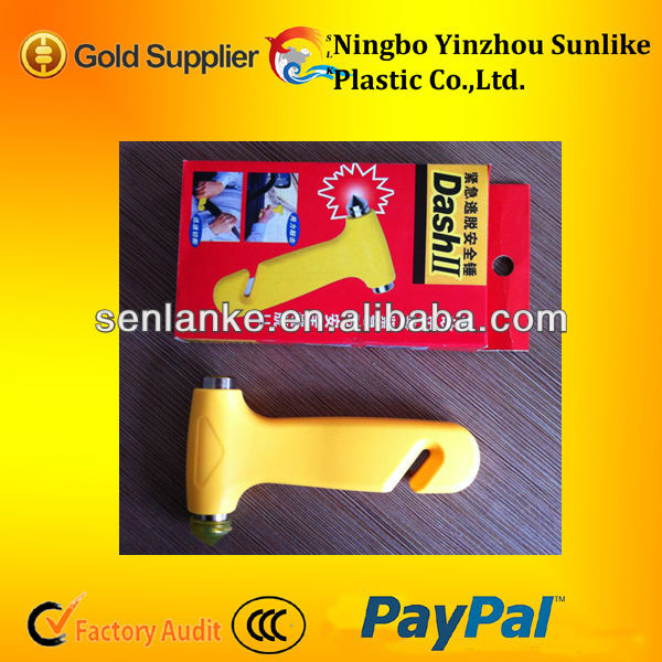 Two in One plastic abs emergency hammer/Car / Auto Emergency Life Safety Hammer/Bus mallet