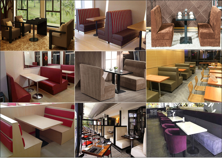 Double restaurant booth seating furniture