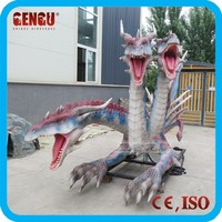 Outdoor Dinosaur Park High Simulation Colorful Dragon