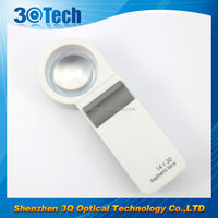 DH-81011 latest 10x handheld magnifier magnifying glass handle 10 power low vision aid