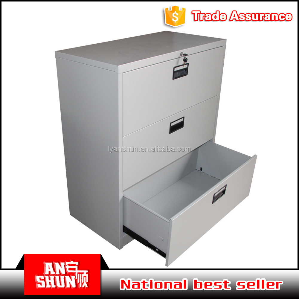 metal pigeon hole document file furniture 3 drawers office cabinet