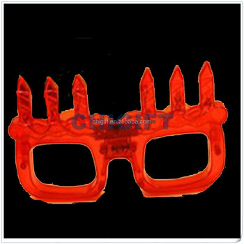 Craft Supplies Red LED Sunglasses for Birthday