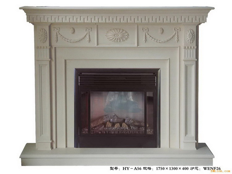 Premium quality new design freestanding white marble fireplace