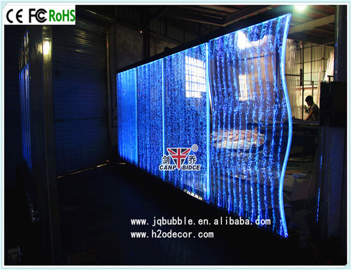LED Water bubble wall panel lighted fountain room dividers for hotel lobby decor