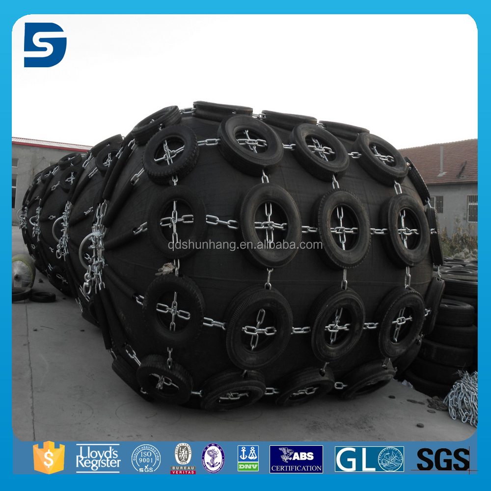 Dock Rubber Inflatable Boat Fender With Chain And Tyre Net
