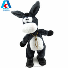 walking donkey electric plush toy car rocking head with singing and dancing
