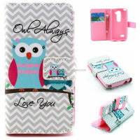 PU wallet leather case pouch bag for LG Leon H340N C40, Skull design wallet case for LG Leon