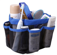 Bathroom Hanging Shower Mesh Tote, Quick Dry Hanging Toiletry and Bath Organizer Tote