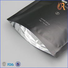 coffee bag printing 8oz pouch valve ziplock bags in black