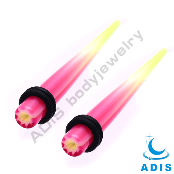 Fashion design wholesale hotselling acrylic ear taper jewelry piercing