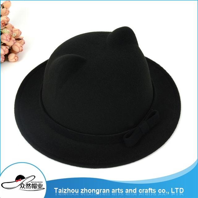 Customized Design Changeable Wool Felt Hat Blank Men'S Wool Felt Hat