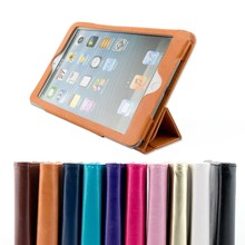 China wholesale tablet protective case flip case for ipad mini PU leather case