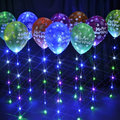 led sparkle balloon ribbon With 6 LED Lights