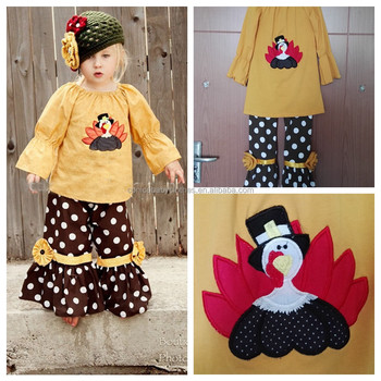 remake wholesale boutique outfits kids cute fall holiday girl clothes set