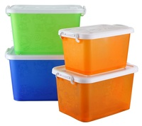 Clear PP Plastic Storage Box Without Lid