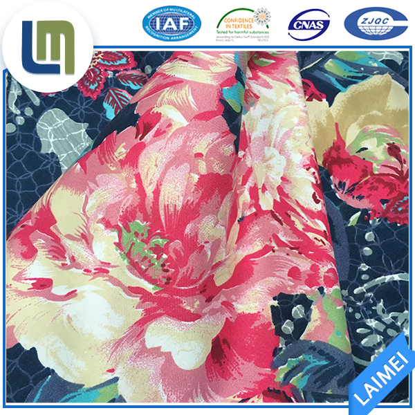 100% high quality polyester twill printed microfiber fabric for bedding