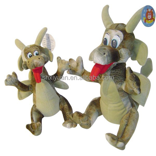 Novelty plush toys standing dragon stuffed toy from china