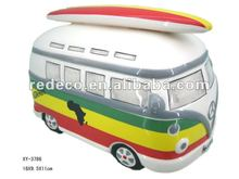 Ceramic bus coin bank