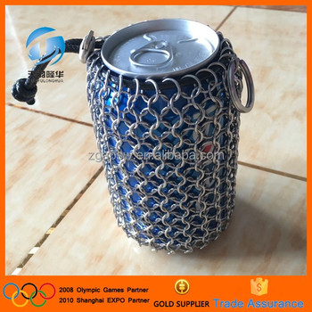 Stainless steel 304 metal chain mail bag