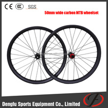 Dengfu carbon wide wheelset 50mm hookless/clincher wheelset for china mtb carbon frame