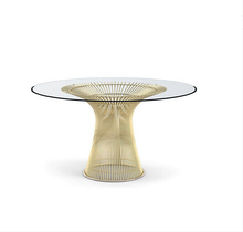 modern classic Knoll wire stainless steel Warren Platner dining table