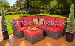 2017 Sigma high top outdoor unique wicker sectional sofa l shaped