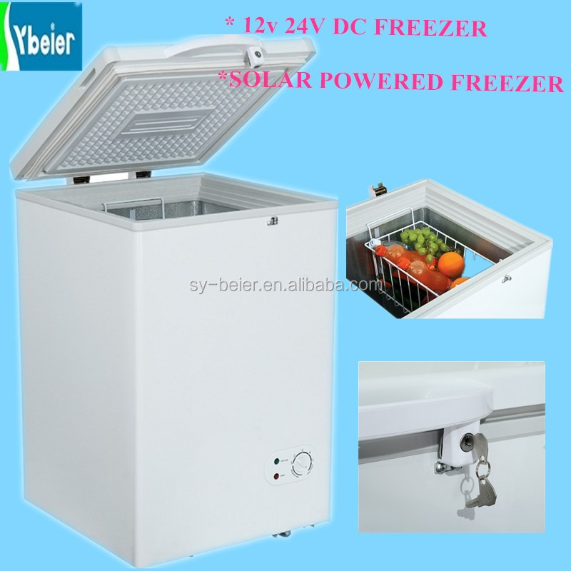 Single top open door chest freezer 90L