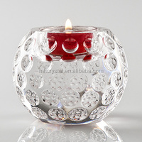 Dimpled Crystal golf Tealight Holder MH-1288