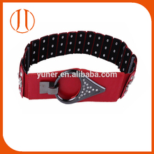 Lastest Black Red Women Ring Metal Clasp Elastic Belt