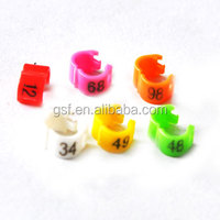 3mm 4mm 4.5mm 5mm Plastic Split /Clip Small Bird Leg Bands for Budgerigar Leg Bands