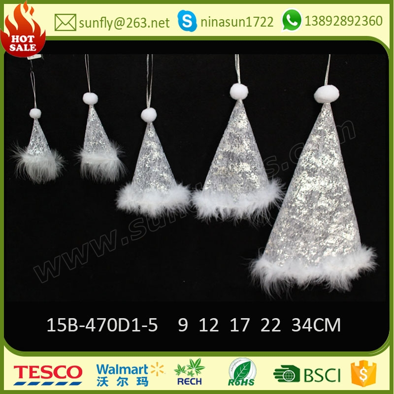 2016 handmade hanging hat best christmas ornaments for christmas tree made in china