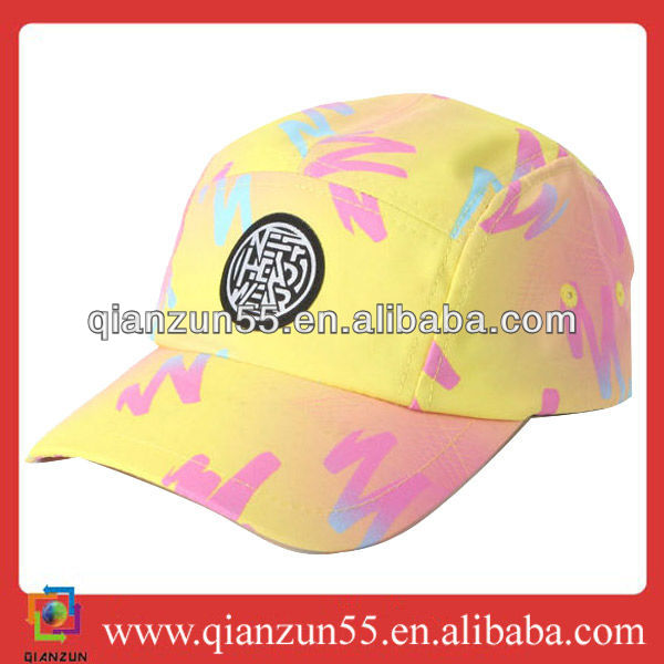 Fresh yellow cool only floral Future Style Volley 5 Panel Cap Hat