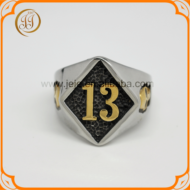 Custom Signet Ring With Numbers Cool Wholesale Stainless Steel Skull Rings