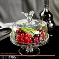 Sanzo Custom Glassware Manufacturer 3-layer cake stand