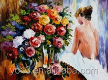 beautiful girl body sexy girl art nude painting canvas oil painting