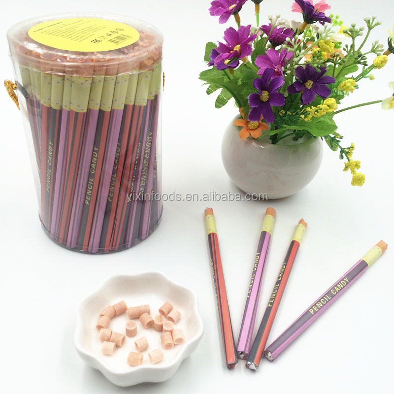Wholesale colorful sweet pen pencil candy