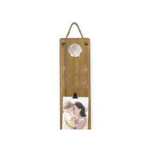 Rustic Hanging Natural Wooden Wall Clip Picture Frame