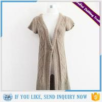 Hot Sale 2015 Sexy Ladies Short Sleeve V-neck Winter Long Cardigan Knitting Pattern