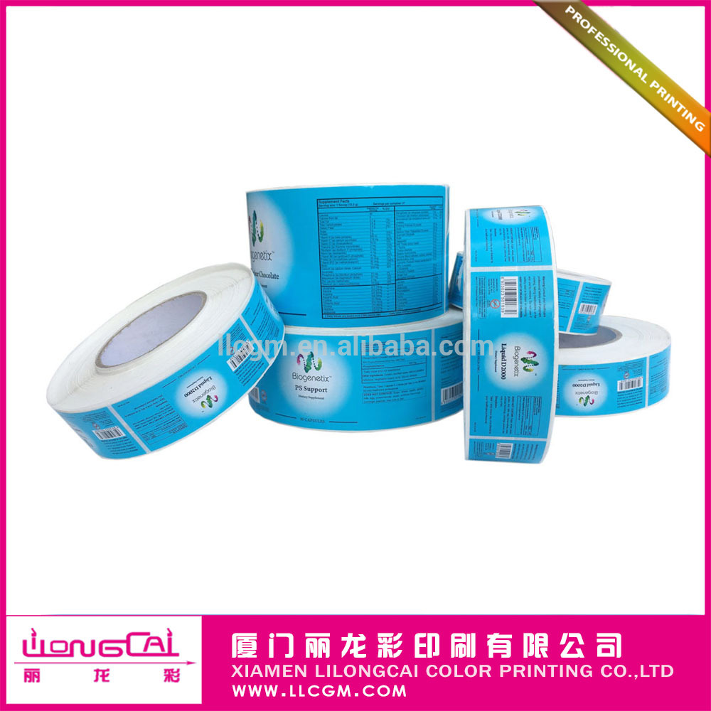 China Manufacturer Roll Label Sticker for Cosmetic and Commodity Blank Label Sticker