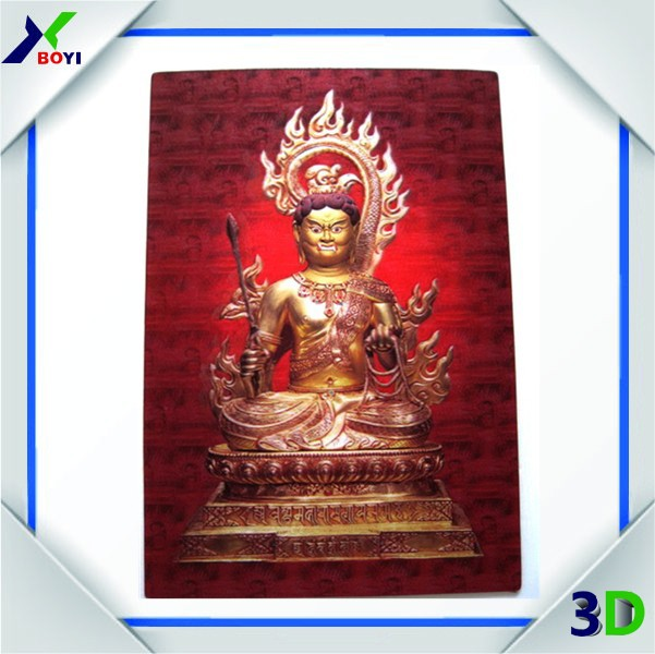 Wall hanging decorative religious 3d indian god picture poster