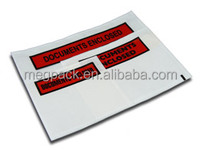 back adhesive Packing List Envelope for packing commercial invoice
