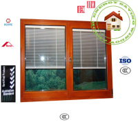 aluminum casement window with manual blind