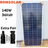 140w 36v poly SOLAR PANEL, 96pcs section solar cells.