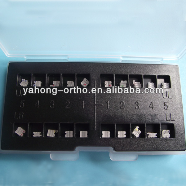 High-quality orthodontic ceramic teeth bracket CE.ISO.FDA