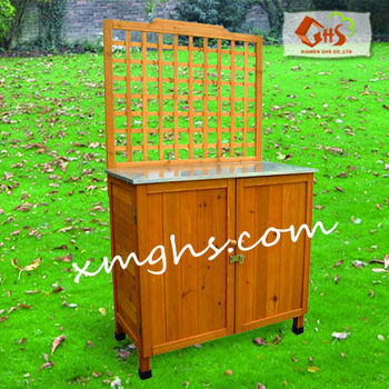 Outdoor potting table storage buy potting table - Potting table with storage ...
