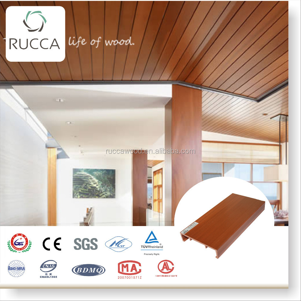 WPC Artistic Wood Ceiling for interior decoration 100*25mm Building Material Foshan China Suppliers