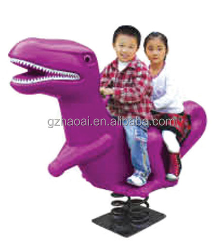 A-07502 Animal dinosaur kids rocking playground equipment spring rider