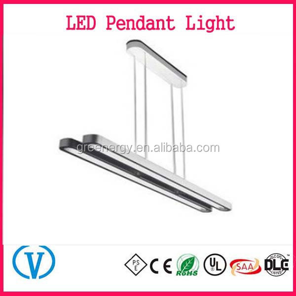 2016 New product Commercial Doubale And Single Line pendant T5 office light fixture