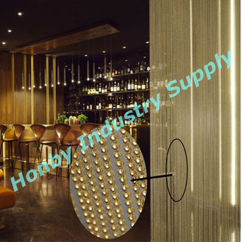 Night club decorating shimmering ball chain beaded curtain